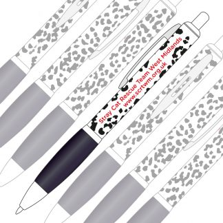 SCRT Animal Print Black & White Pen