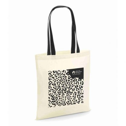 Black and White Animal Print Tote Bag for Life
